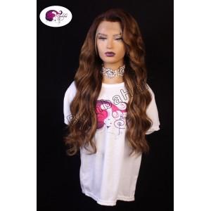 Wig - balayage - 60 cm brown