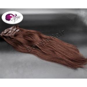Clip-In - braun color:3 -...